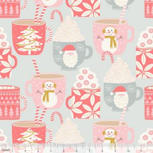 hot chocolate cotton fabric