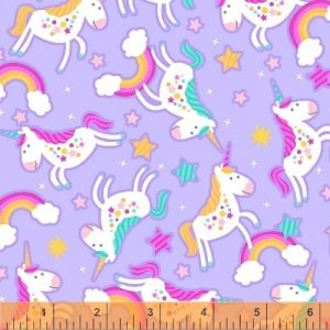 unicorns rainbow fabric