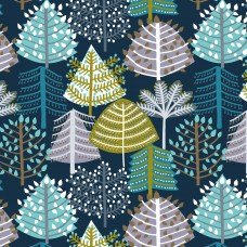 christmas trees fabric