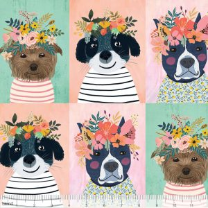dog fabric cotton