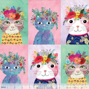 cat fabric cotton