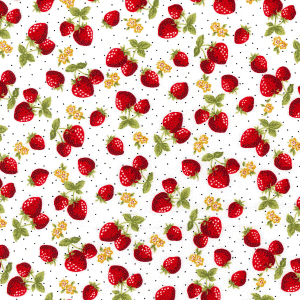 strawberries poplin cotton