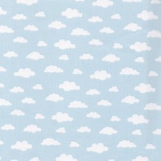 blue cloud cotton fabric