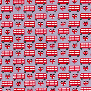 london red bus fabric