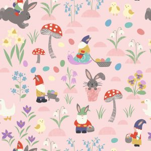easter fabric bunnies cotton