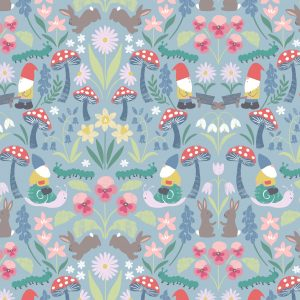 gnomes fabric easter