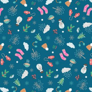 winter snowmen fabric