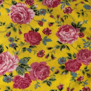 yellow roses jersey fabric