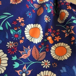 retro french terry floral