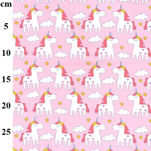 pink unicorn fabric
