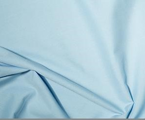 plain blue polycotton fabric