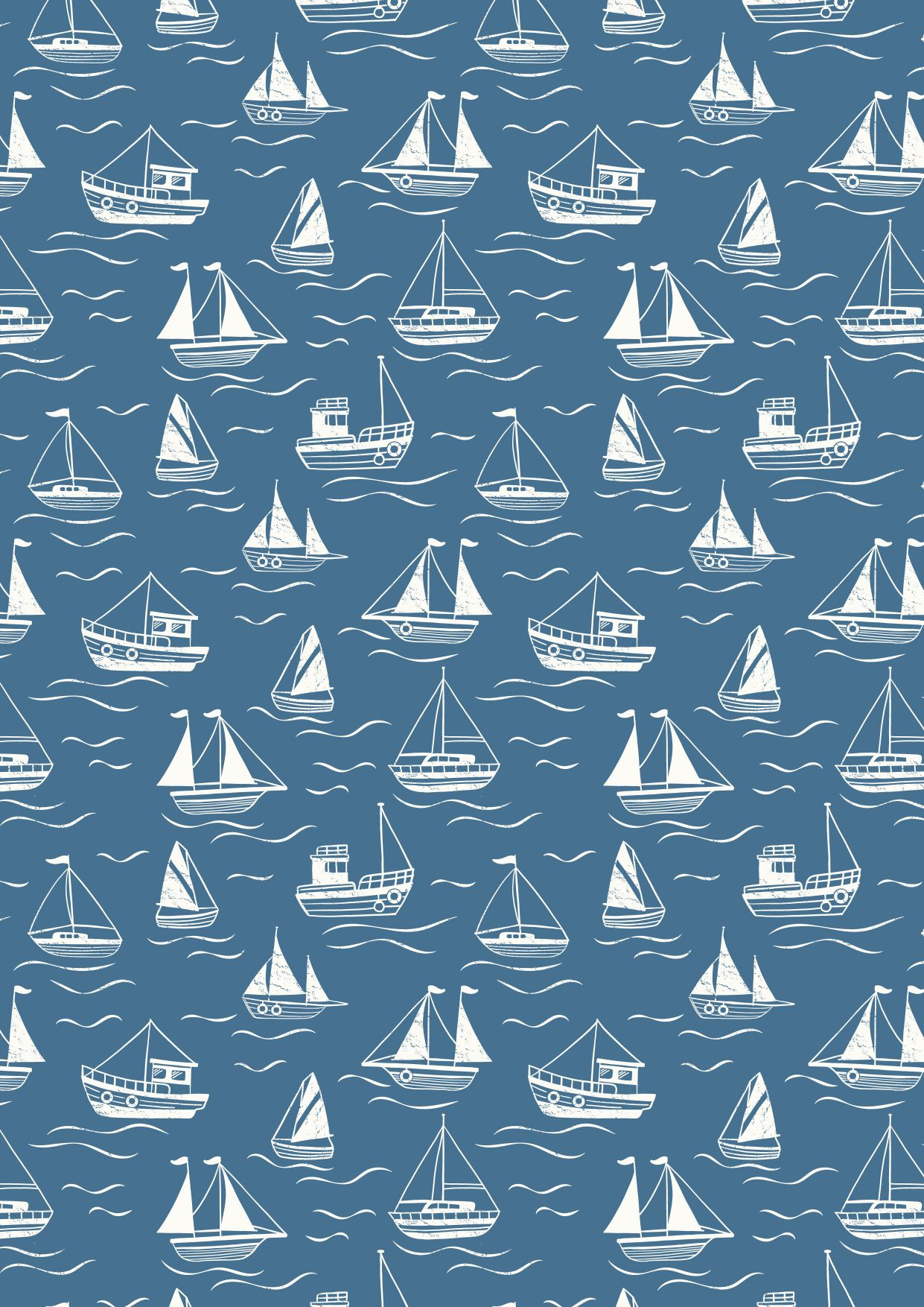 thalassophile blue boats fabric