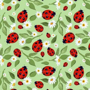ladybird cotton fabric