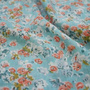 blue cotton lawn floral