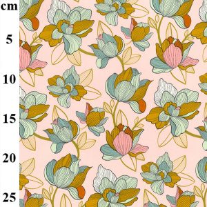 cotton stretch fabric floral