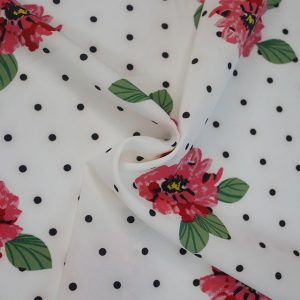 spotty floral retro fabric