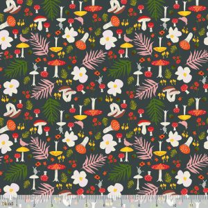 enchanted forage grey blend fabric