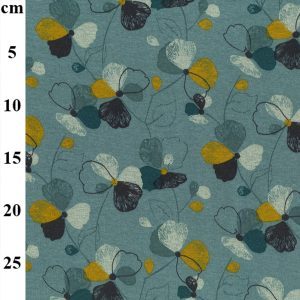 floral sweat terry brushed fabric