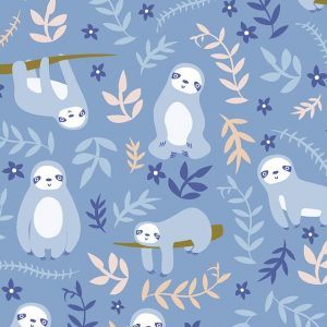 sloth cotton fabric