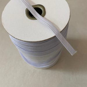 white flat elastic 8mm