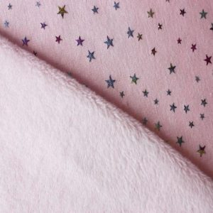 alpen fleece pink stars