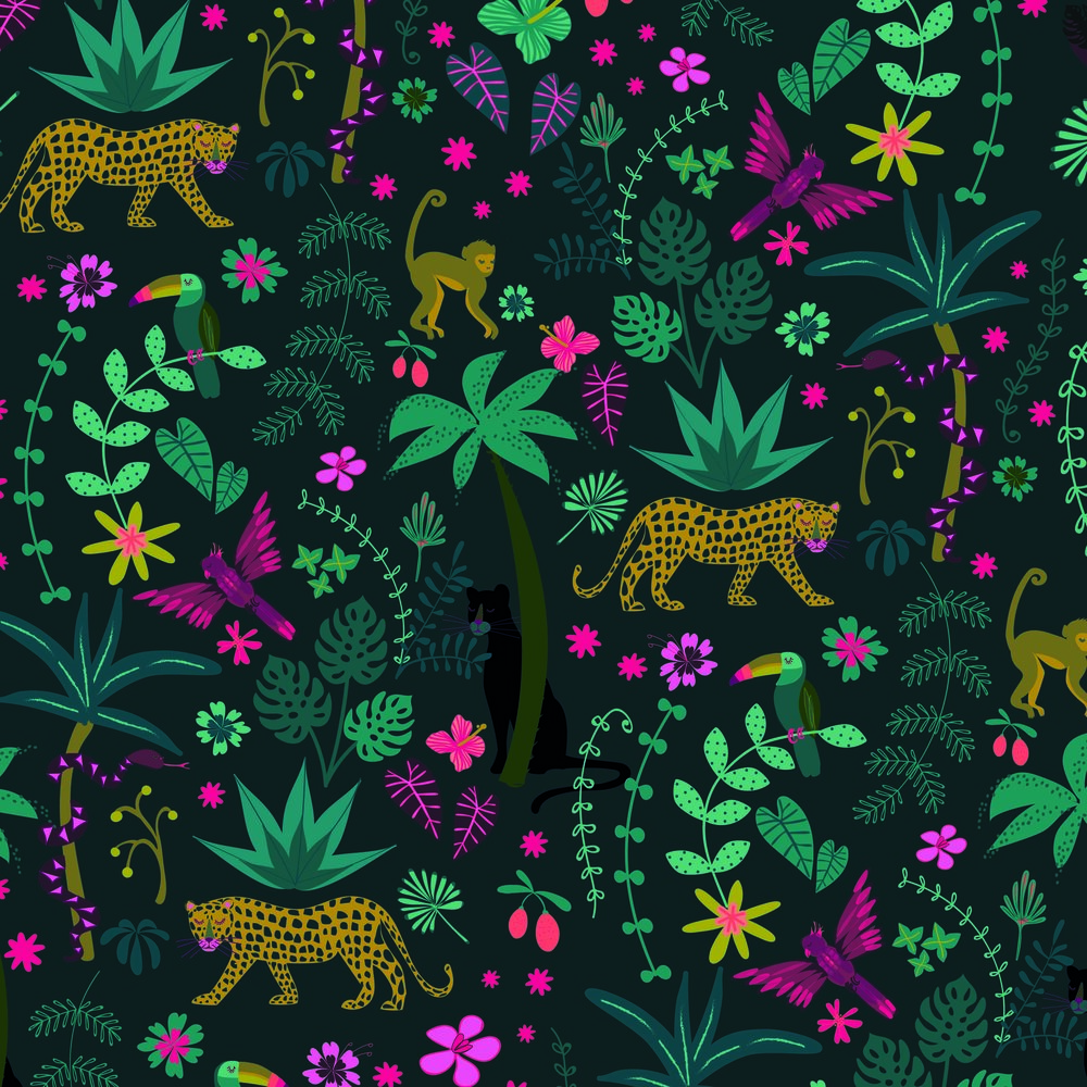 jungle fabric cotton