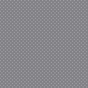 pinspot grey cotton fabric