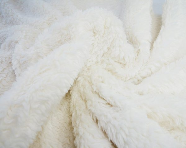 ivory cream sherpa soft fleece