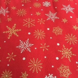 red christmas cotton snowflake