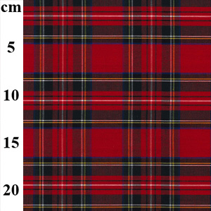red tartan cotton fabric