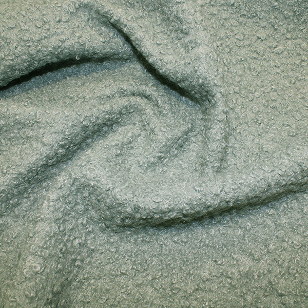 boucle fabric mint blue