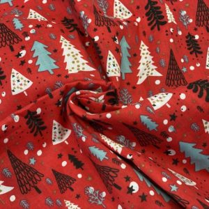 christmas tree polycotton