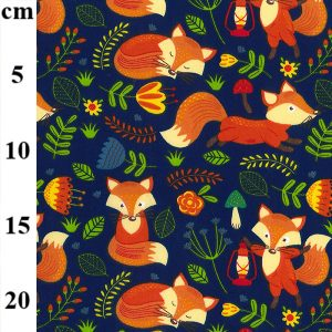 polycotton fox fabric