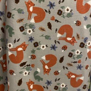 Fox french terry fabric
